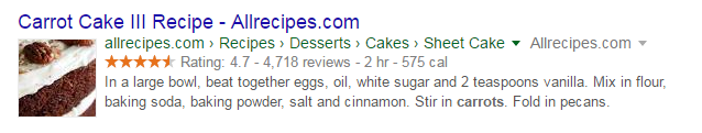 rich snippets on-page SEO